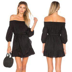 Tularosa Maida Black Bardou Ruffle Dress Small